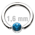 5 mm DUNKELBLAU Clip-In Zirkonia