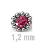 4 mm PINK Sun-Jewelled-All Zirk.