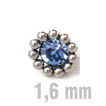 4 mm HELLBLAU Sun-Jewelled-All Zirk.