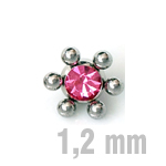 4 mm PINK Sun-Jewelled Ball Zirk.