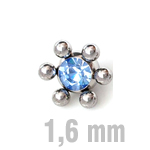 6 mm HELLBLAU Sun-Jewelled Ball Zirk.